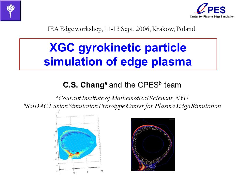 XGC gyrokinetic particle simulation of edge plasma