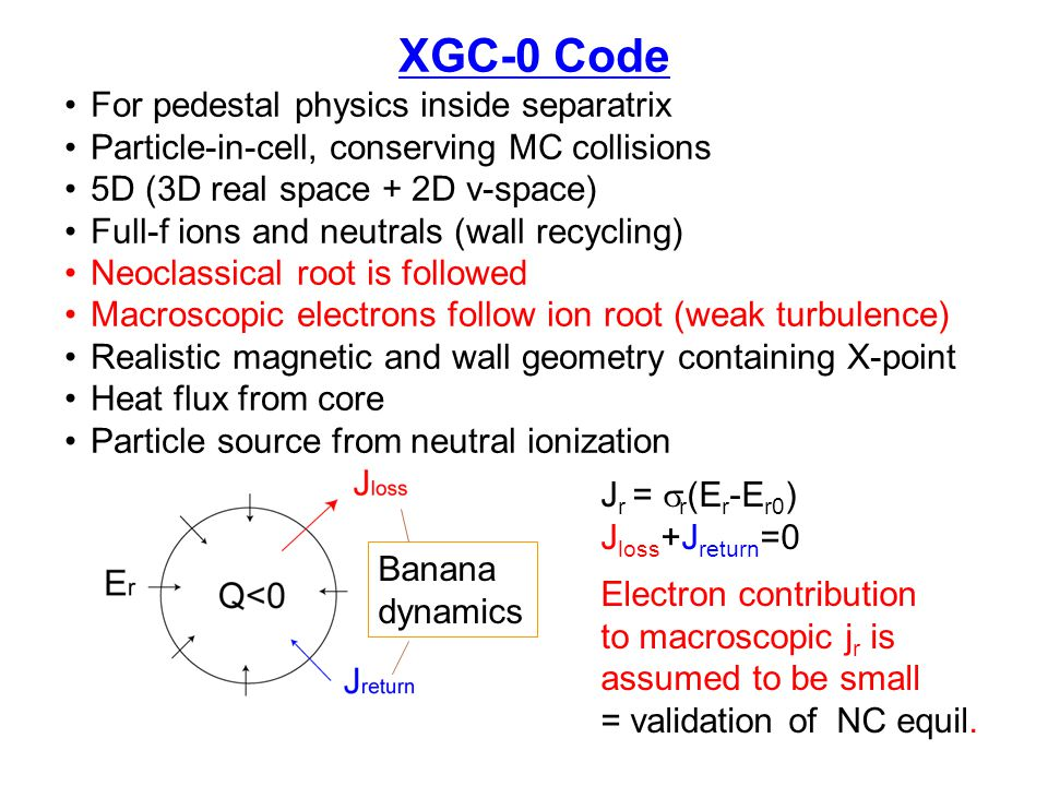 XGC-0 Code For pedestal physics inside separatrix