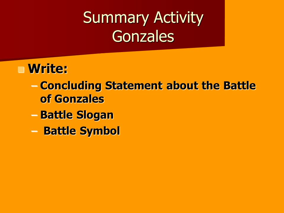 Summary Activity Gonzales