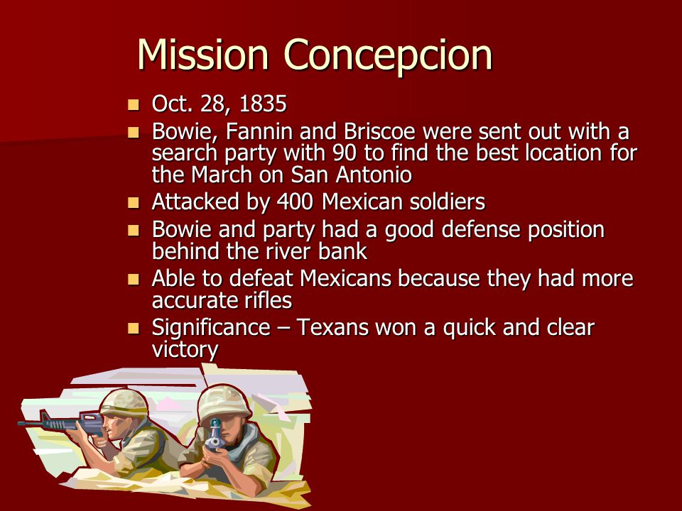 Mission Concepcion Oct. 28, 1835