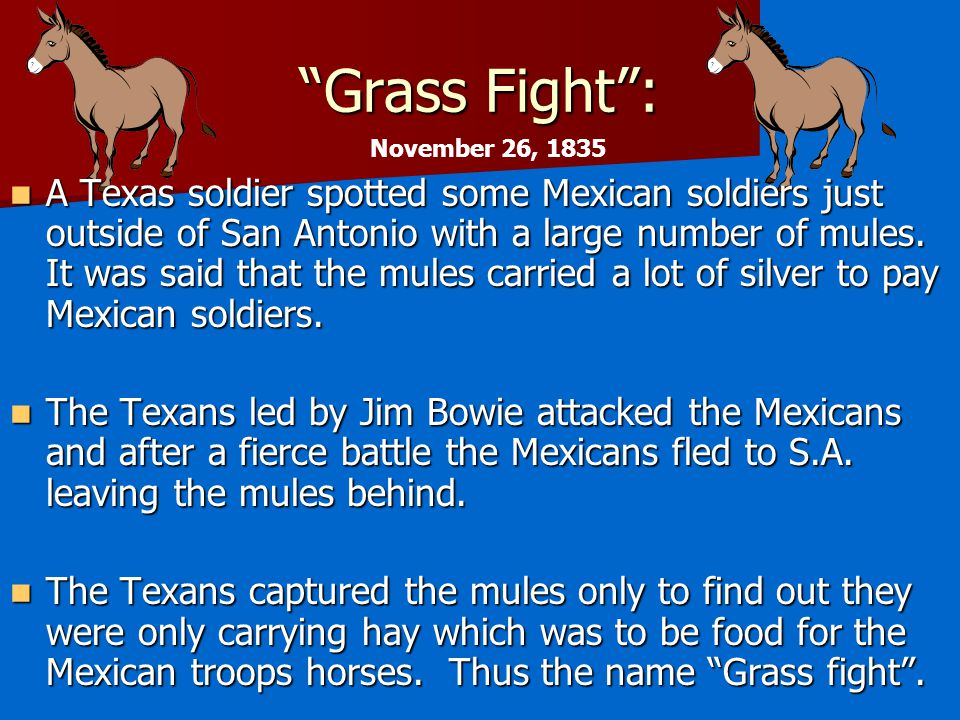 Grass Fight : November 26, 1835.