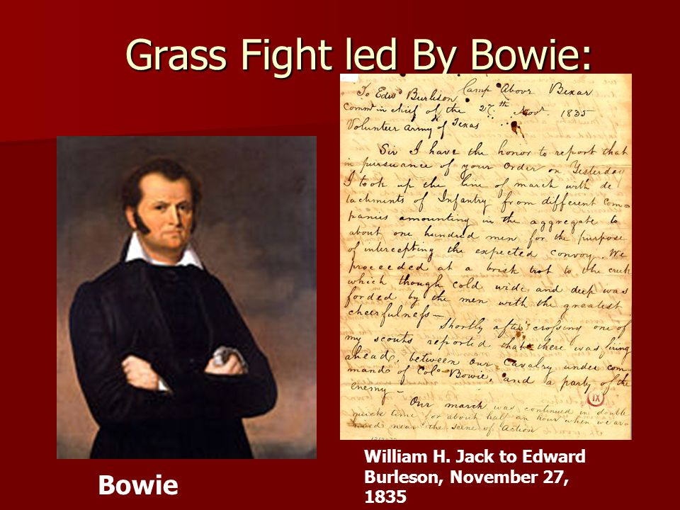 Grass Fight led By Bowie: