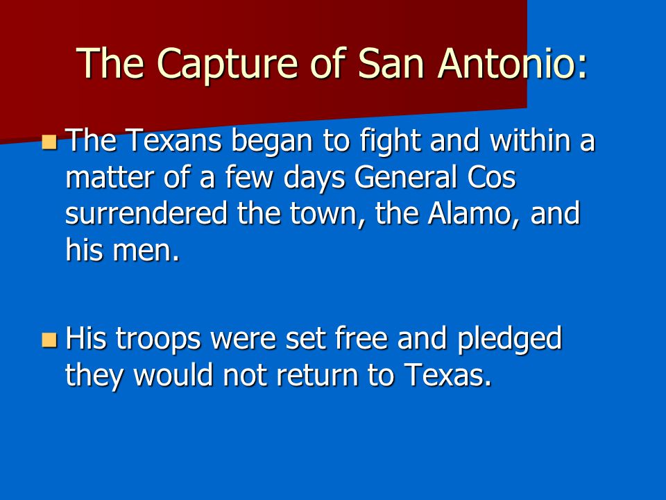 The Capture of San Antonio: