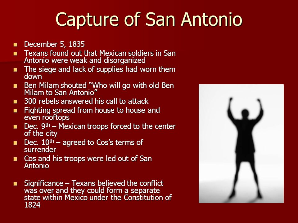 Capture of San Antonio December 5, 1835