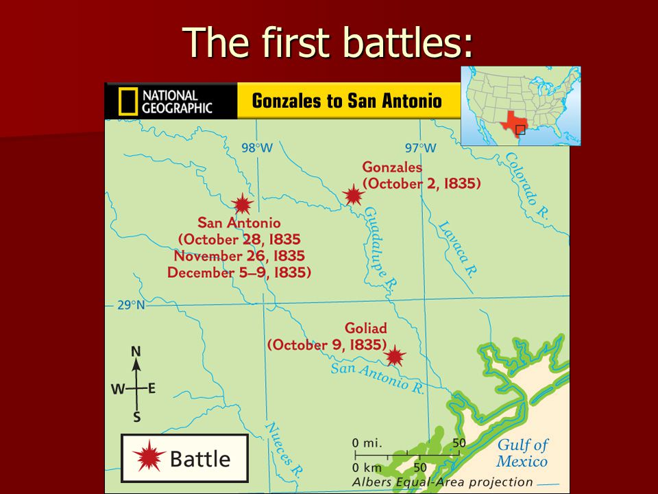The first battles: