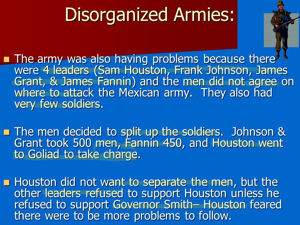 Disorganized Armies:
