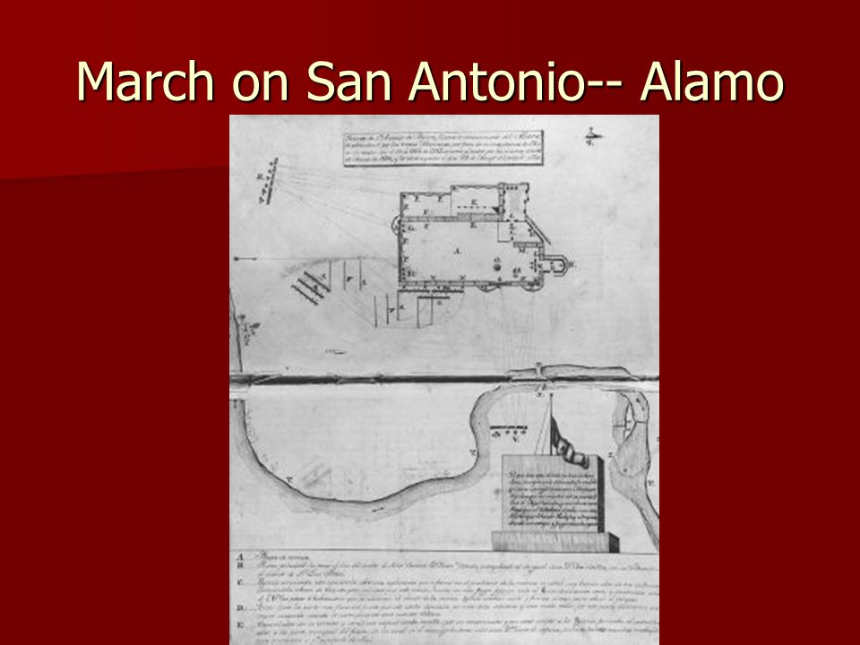 March on San Antonio-- Alamo