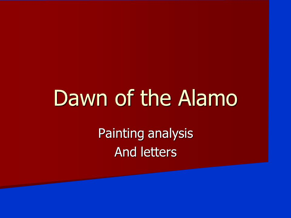 Painting analysis And letters