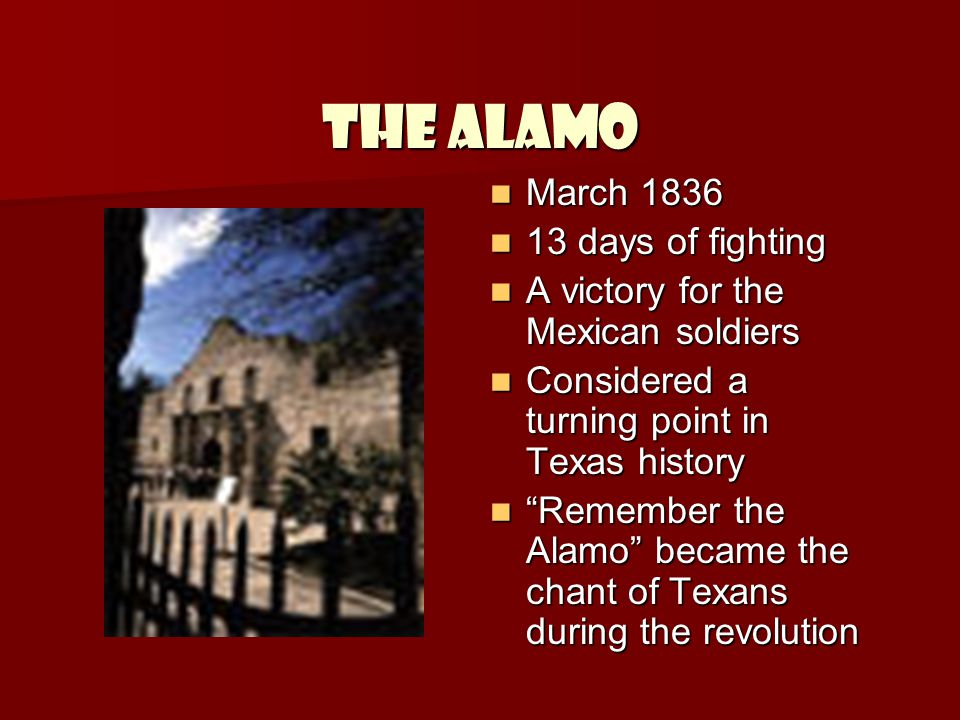 The Alamo March 1836 13 days of fighting