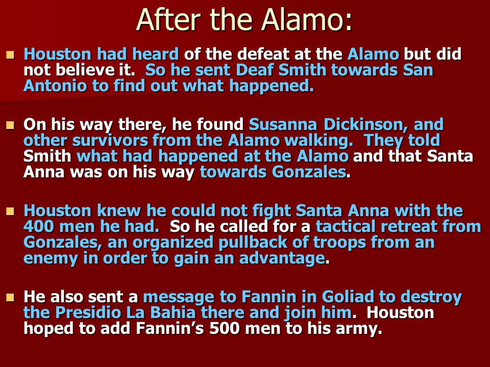 After the Alamo: