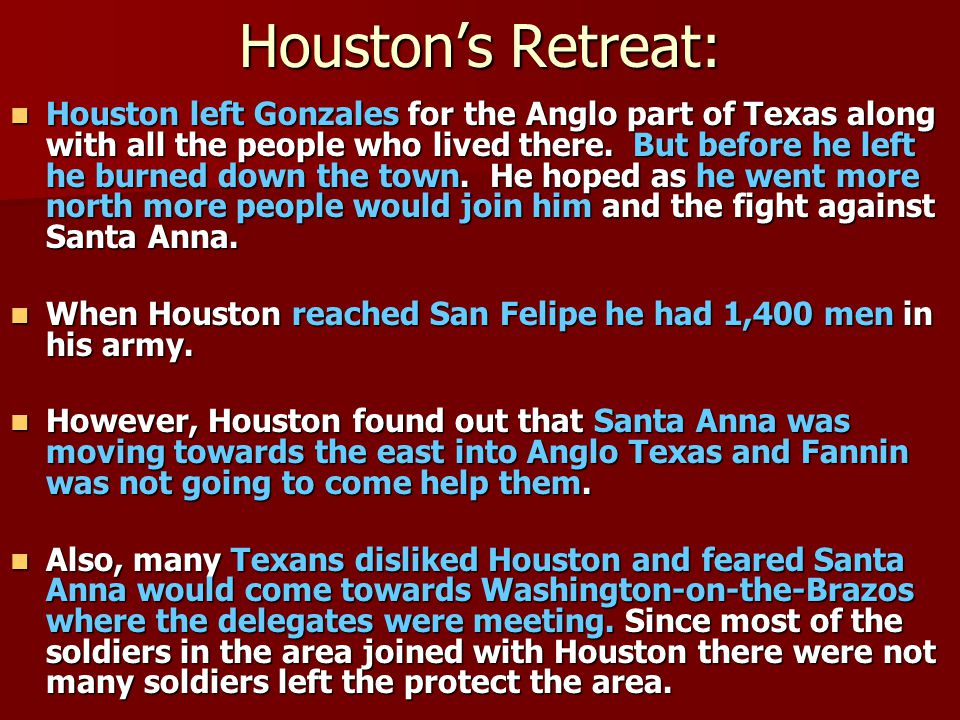 Houston's Retreat: