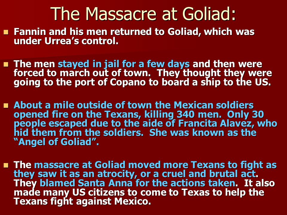 The Massacre at Goliad: