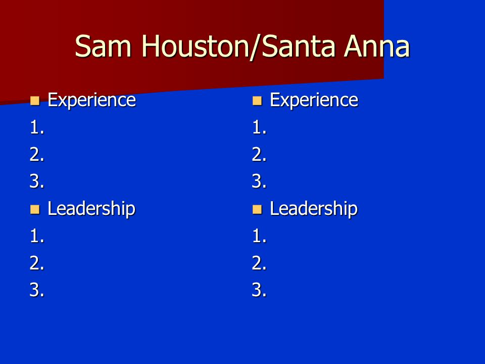 Sam Houston/Santa Anna