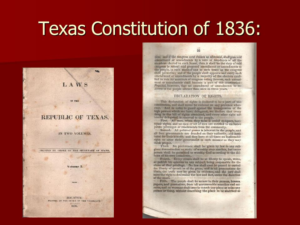 Texas Constitution of 1836: