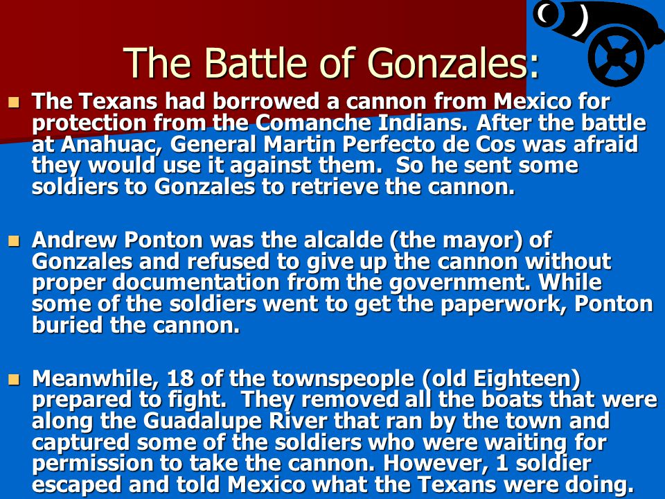 The Battle of Gonzales: