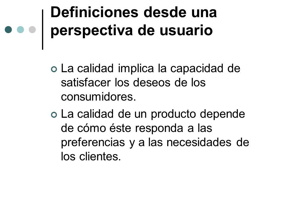 Definiciones desde una perspectiva de usuario