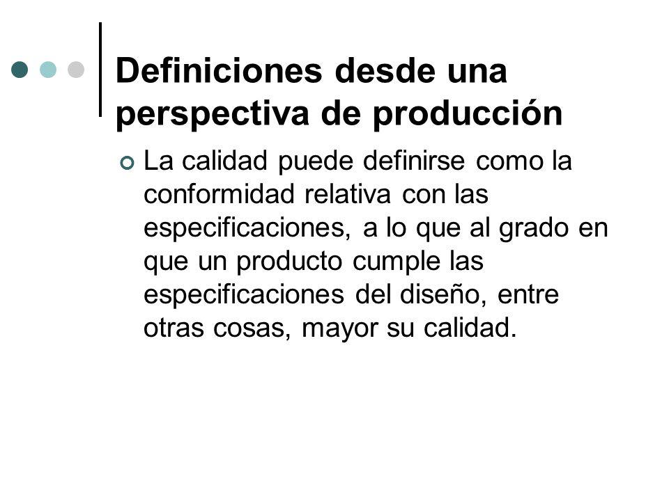 Definiciones desde una perspectiva de producción