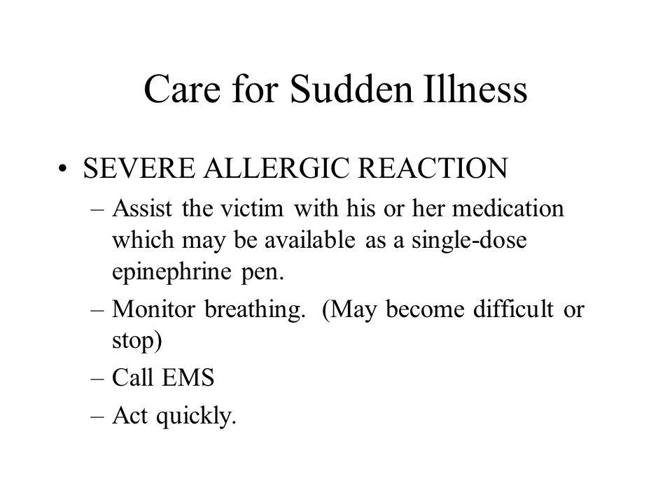 Care for Sudden Illness