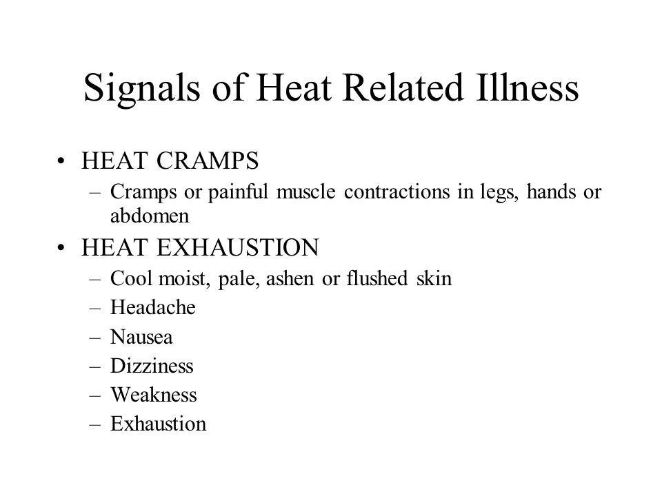 Signals of Heat Related Illness