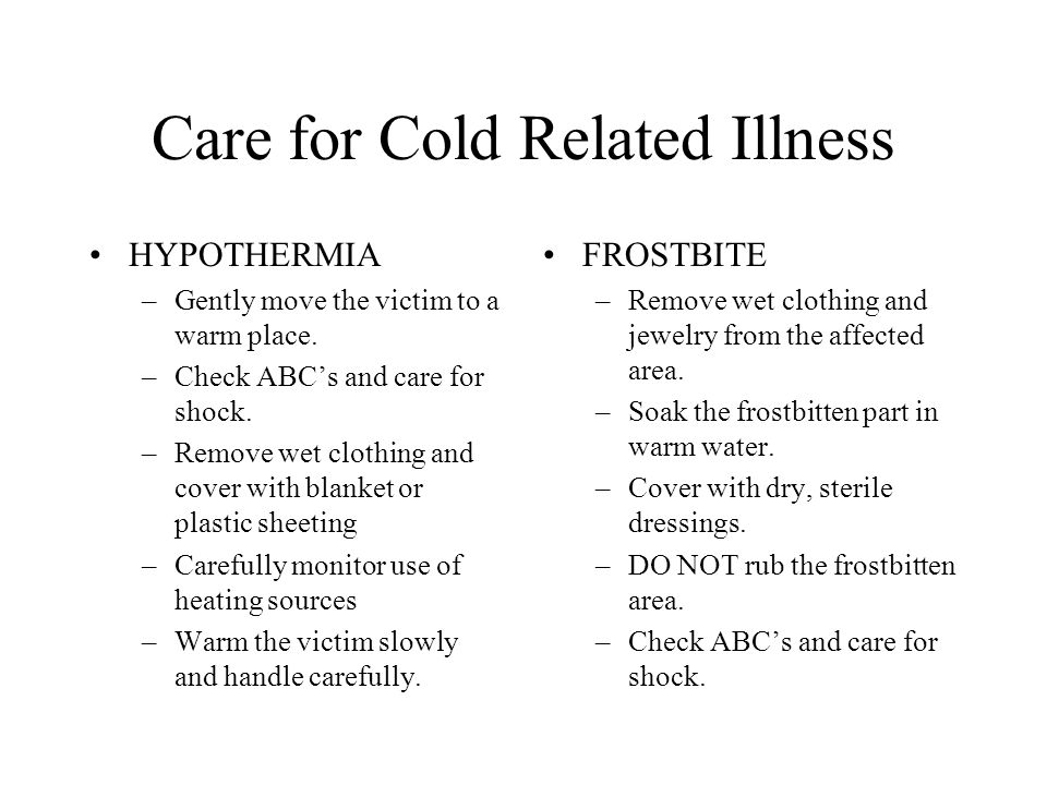 Care for Cold Related Illness
