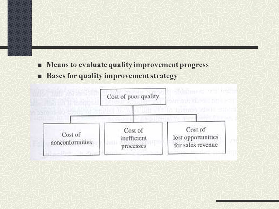 Means to evaluate quality improvement progress