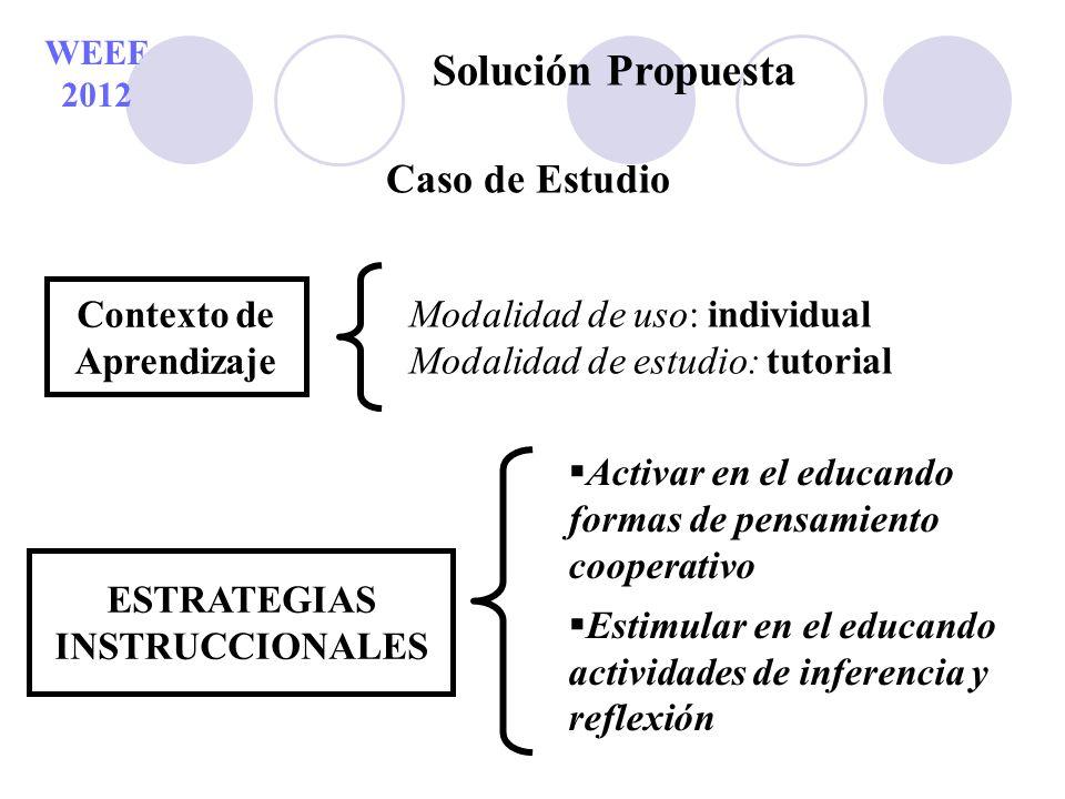 Contexto de Aprendizaje ESTRATEGIAS INSTRUCCIONALES