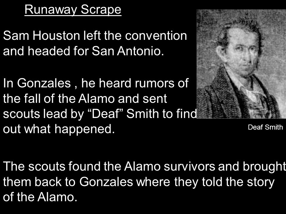 In Gonzales , he heard rumors of the fall of the Alamo and sent