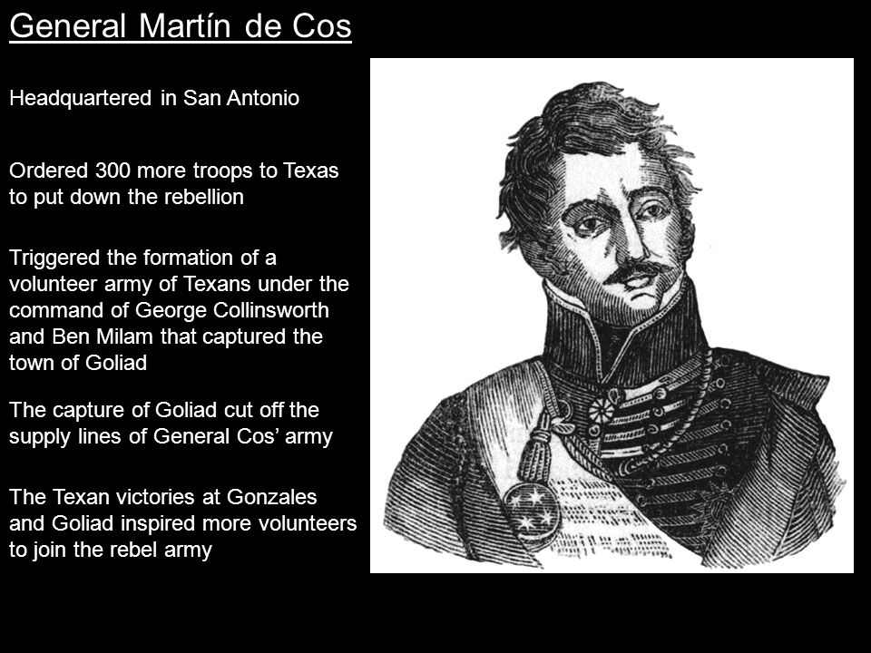 General Martín de Cos Headquartered in San Antonio