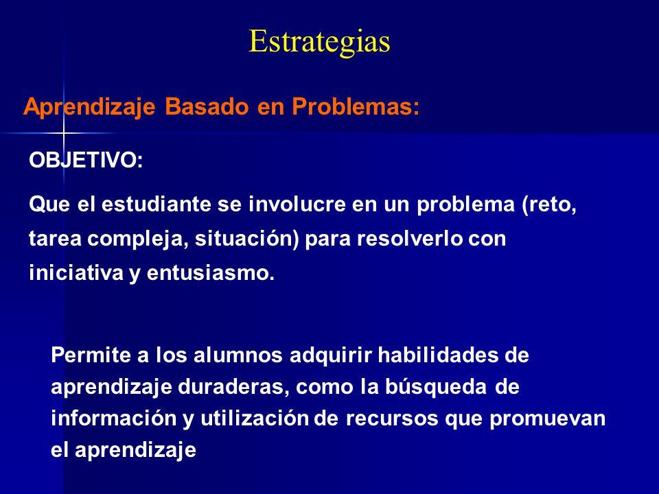 Estrategias Aprendizaje Basado en Problemas: OBJETIVO: