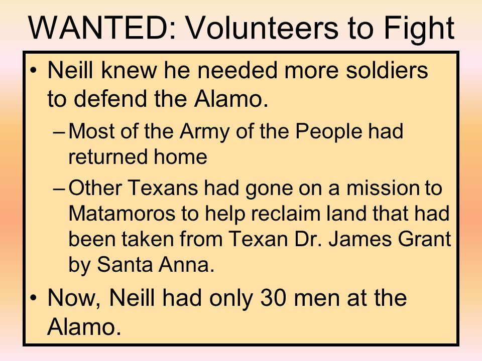WANTED: Volunteers to Fight