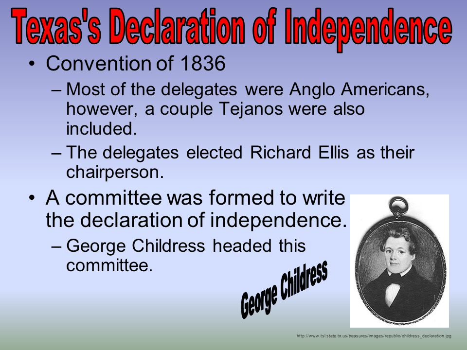 Texas s Declaration of Independence