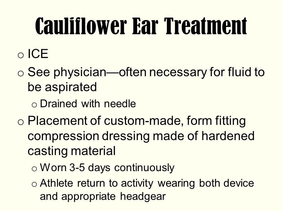 Cauliflower Ear Treatment