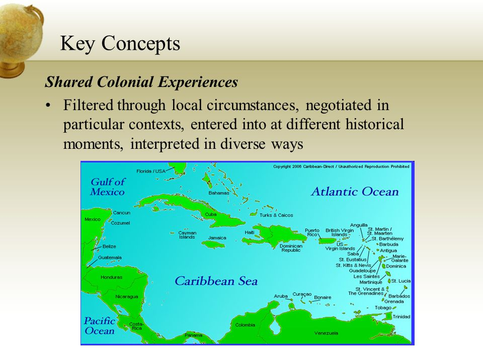 Key Concepts Shared Colonial Experiences