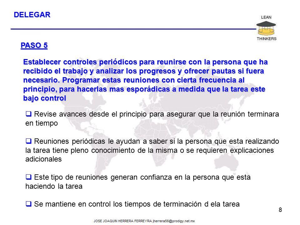 DELEGAR PASO 5.