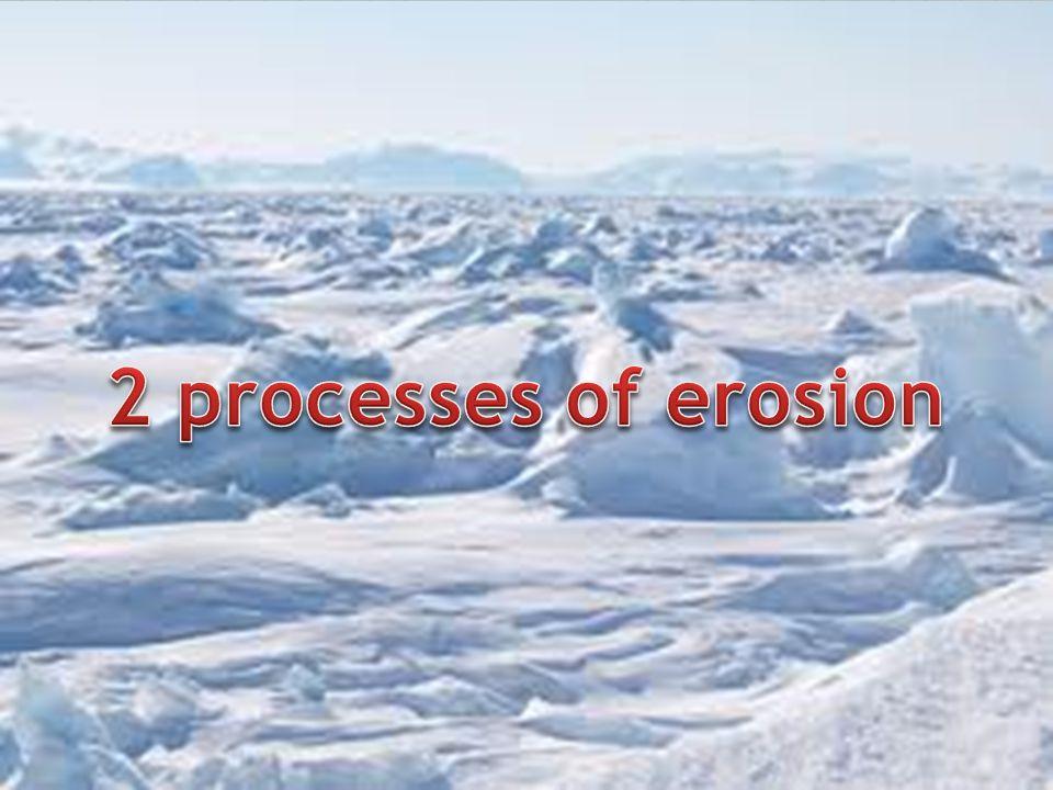 2 processes of erosion