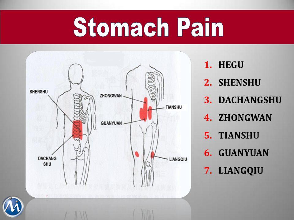 Stomach Pain HEGU SHENSHU DACHANGSHU ZHONGWAN TIANSHU GUANYUAN