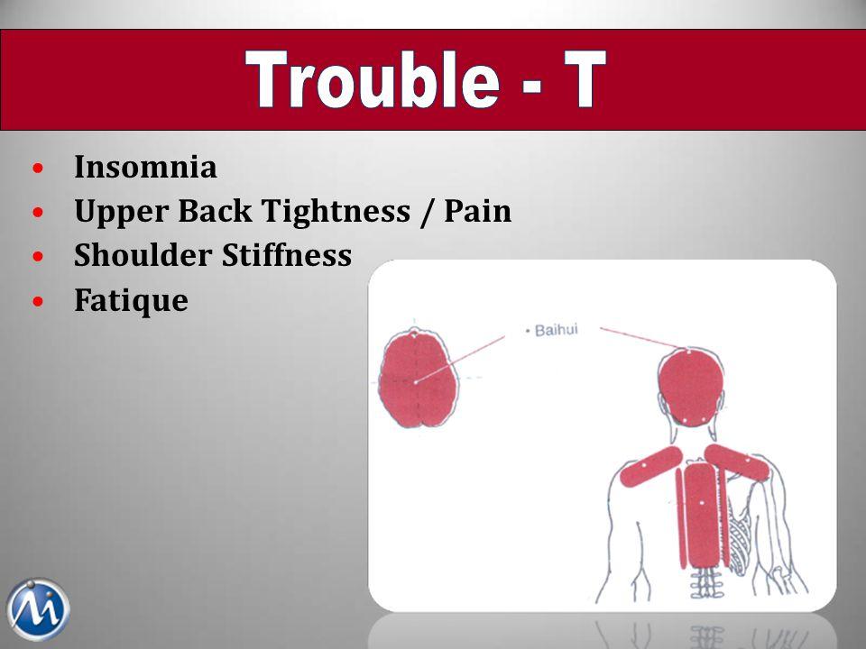 Trouble - T Insomnia Upper Back Tightness / Pain Shoulder Stiffness