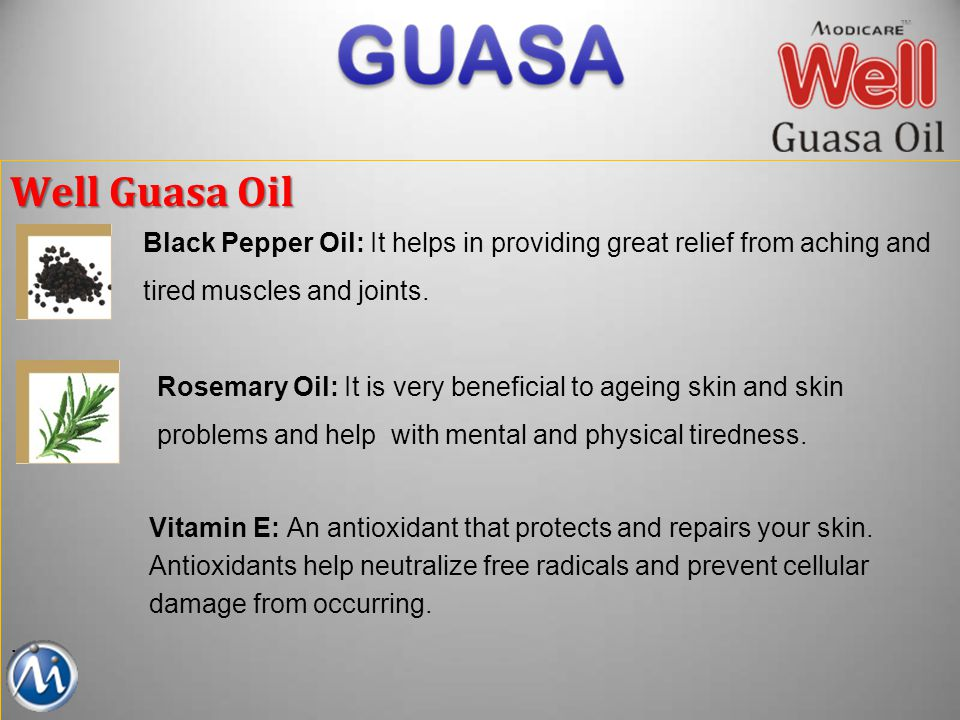 Well Guasa Oil Black Pepper Oil: It helps in providing great relief from aching and. tired muscles and joints.