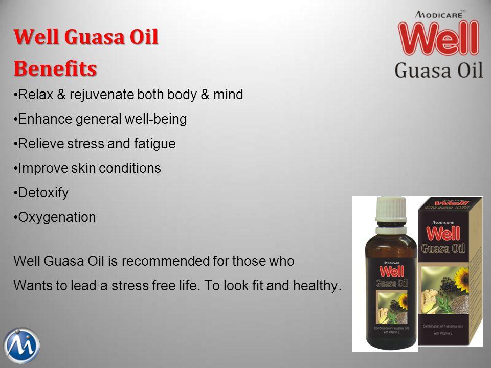 Well Guasa Oil Benefits Relax & rejuvenate both body & mind