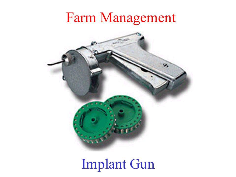 Farm Management Implant Gun