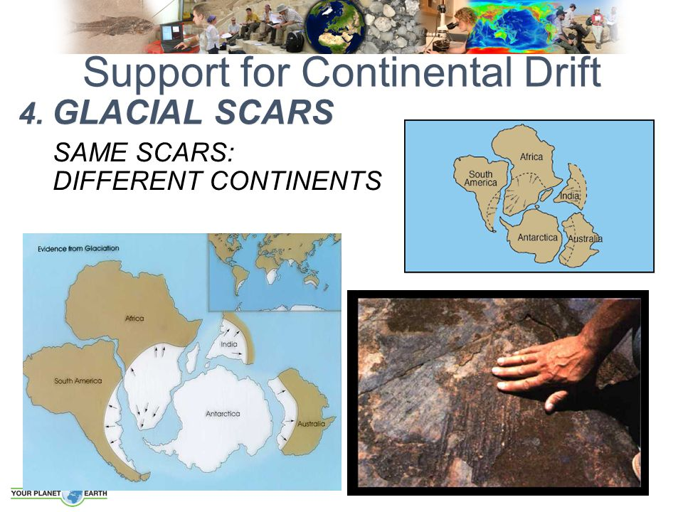 SAME SCARS: DIFFERENT CONTINENTS