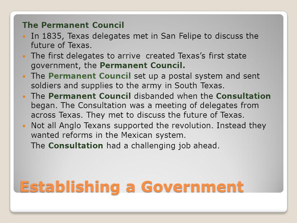 Establishing a Government