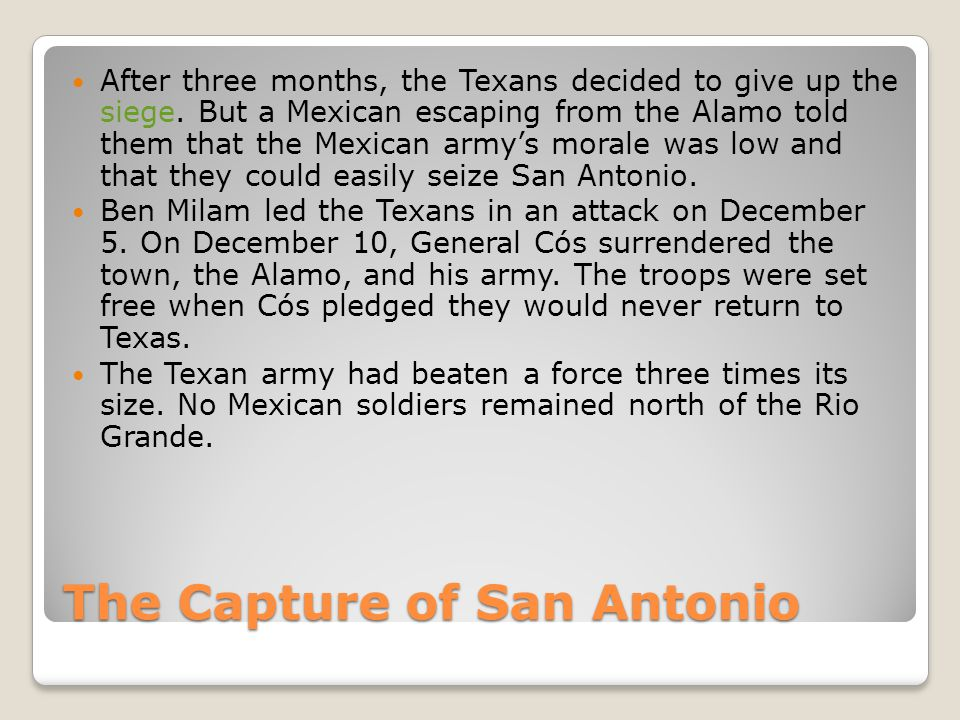 The Capture of San Antonio