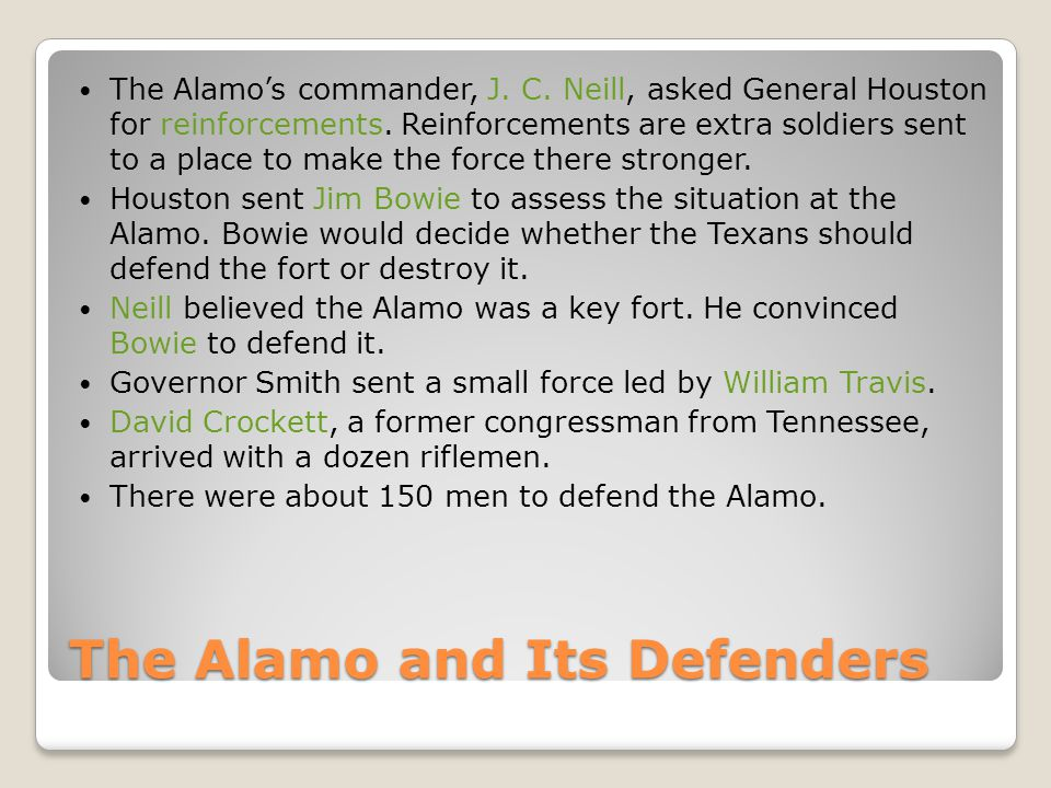 The Alamo and Its Defenders