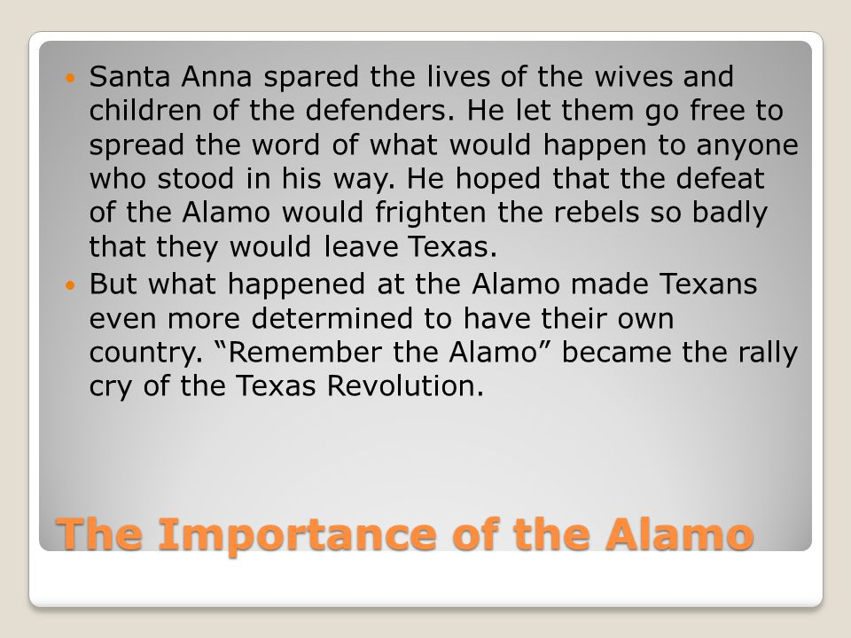 The Importance of the Alamo
