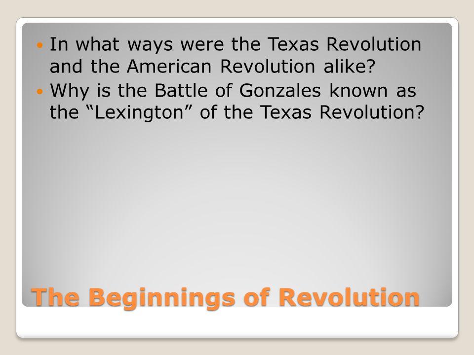 The Beginnings of Revolution