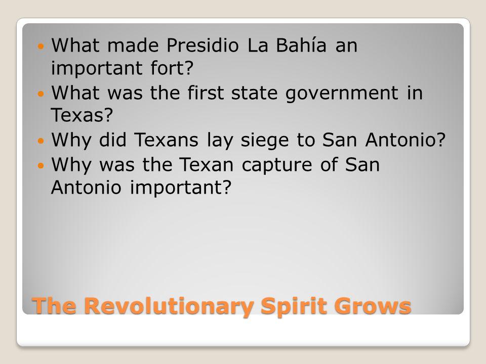 The Revolutionary Spirit Grows