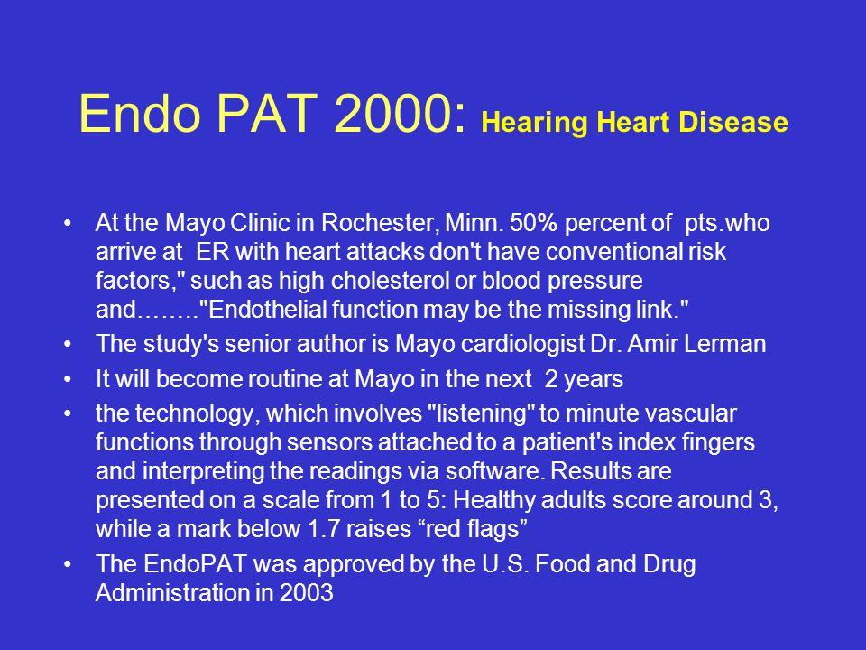 Endo PAT 2000: Hearing Heart Disease