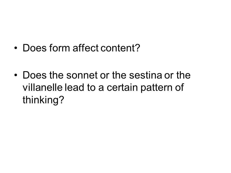 Does form affect content
