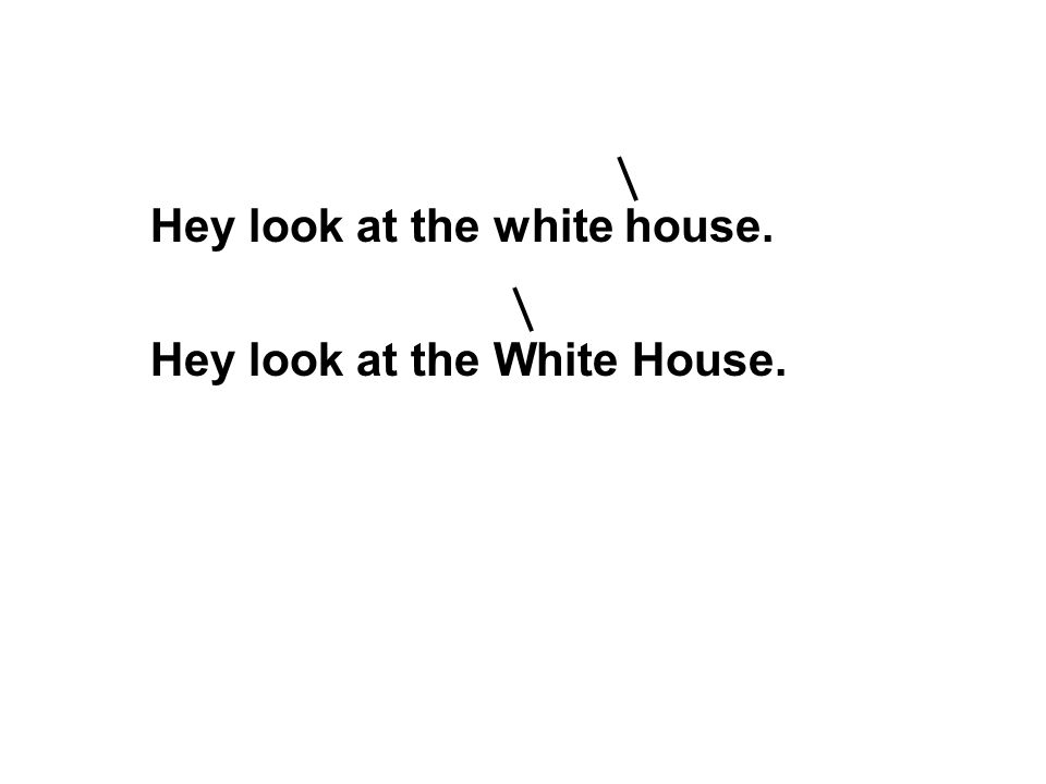 Hey look at the white house.